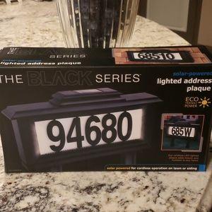 NEW Solar Lighted Address Plaque